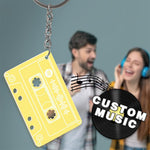 Custom Spotify Code Music Song Keychain Memorial Gifts-Yellow