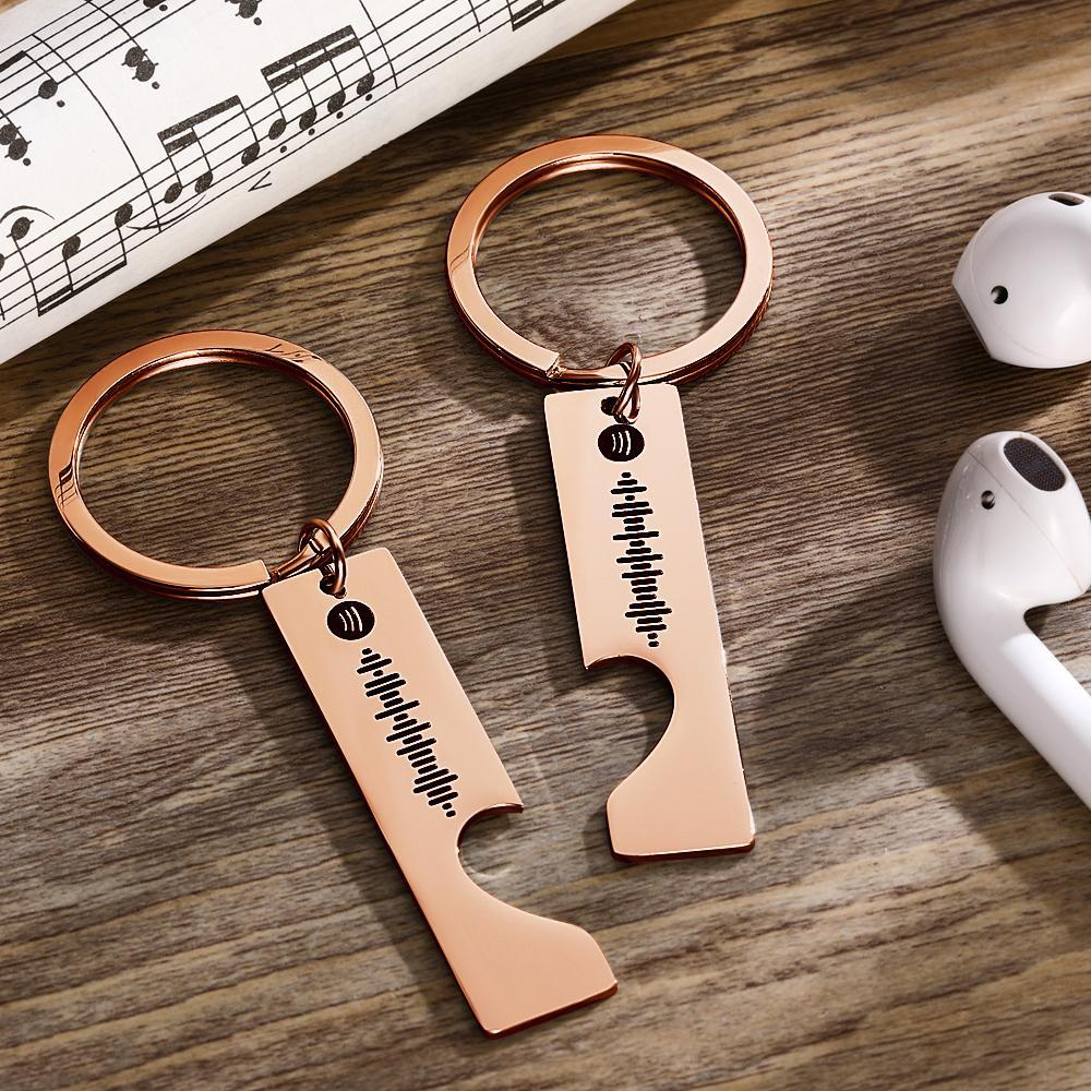 Personalized Spotify Code Keyring Engraved Keyring Gifts for Her/Him