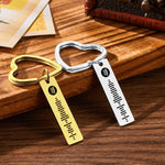 Spotify Code Keychain Metal Keychain with Heart-shaped Keyring