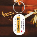 Custom Engraved Music Song Spotify Code Keyring Gifts Multiple Colour-Orange