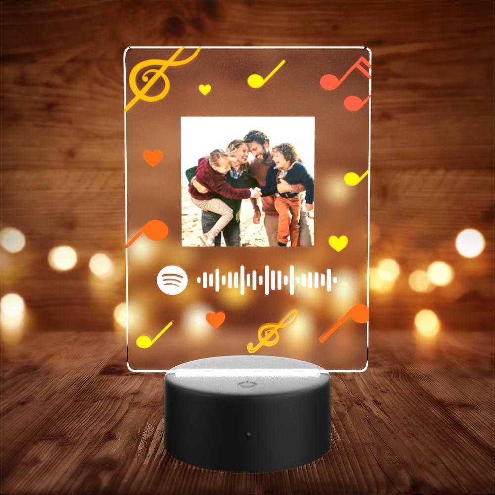 Custom Spotify Night Light with 7 Colors Personalized Night Light with Remote Control Heart