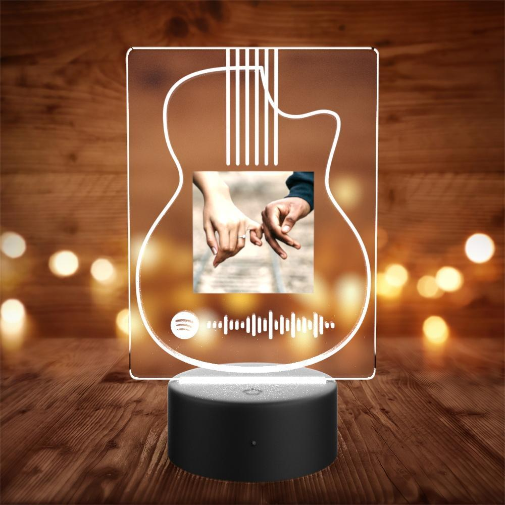Custom Spotify Night Light with 7 Colors Personalized Night Light with Remote Control Saxophone