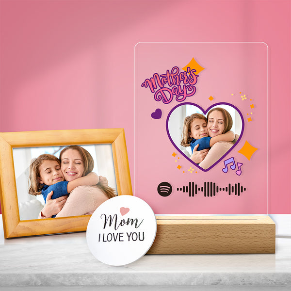 Custom Spotify Code Acrylic Music Night Light Mother's Day Gift