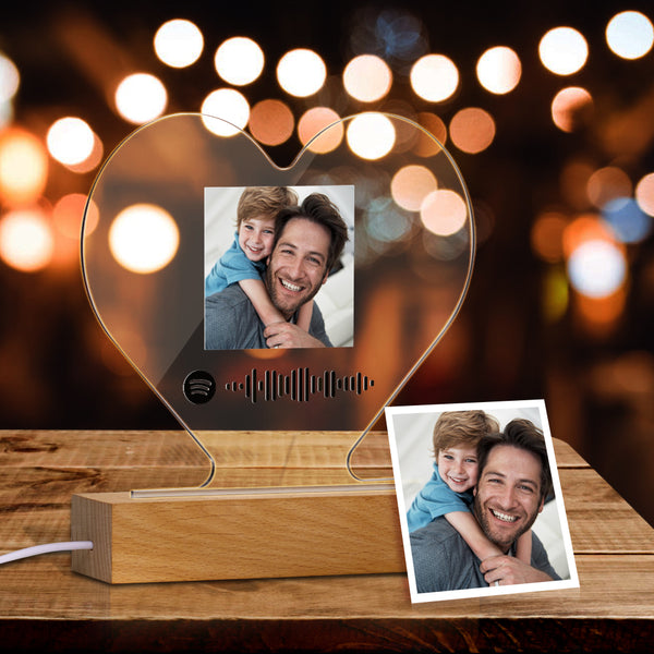 Custom Heart-Shaped Spotify Code Music Plaque Night Light