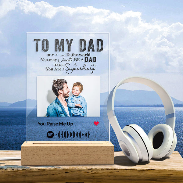 Custom Spotify Code Music Plaque Night Light - Father's Day Gifts