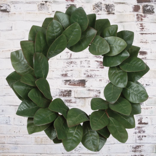 Willow Magnolia Leaves Wreath