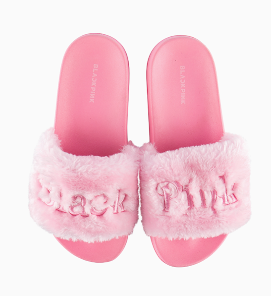 BLACKPINK IN YOUR AREA - SLIDE FUR SLIPPERS