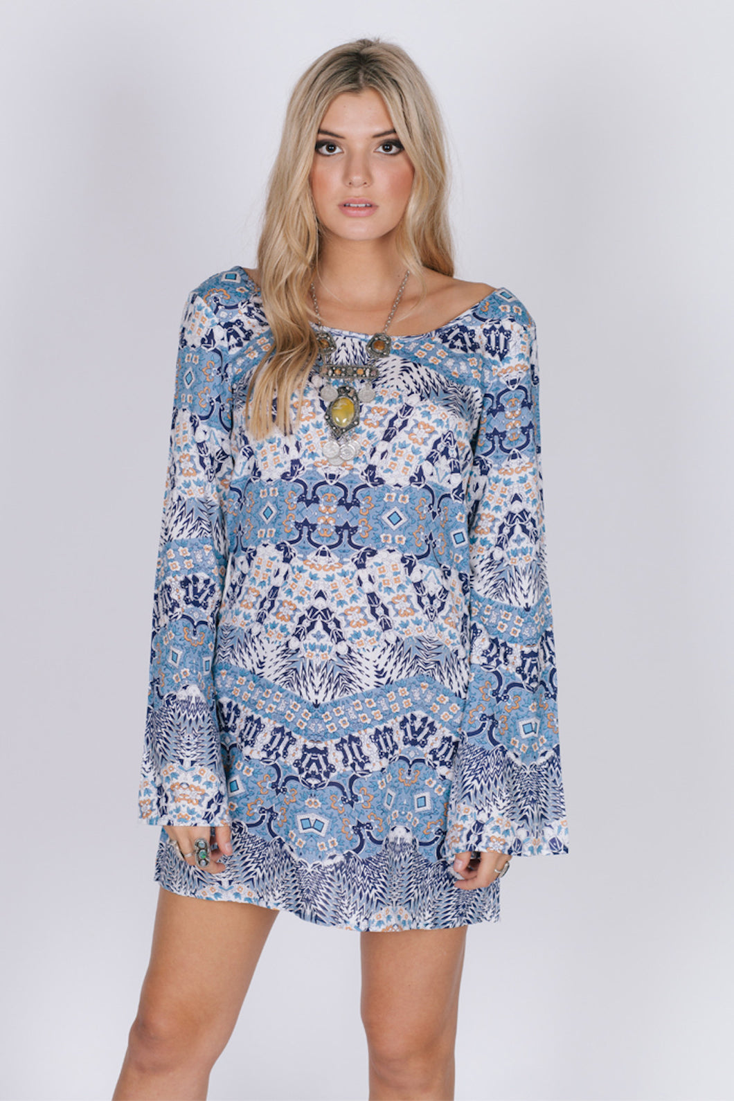 Growing Wild Tunic Dress - ShopAndGo.Online