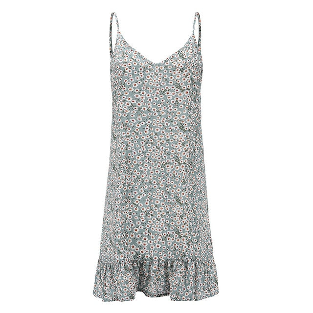 Floral Print Summer Dress - ShopAndGo.Online