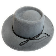 Load image into Gallery viewer, Mechaly Women's Jay Grey Homburg Vegan Hat - ShopAndGo.Online