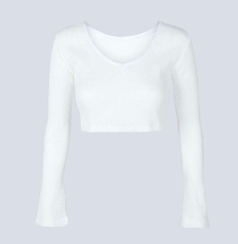 Short Top Women Long Sleeve - ShopAndGo.Online