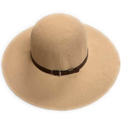 Mechaly Women's Madison Beige Fedora Vegan Hat - ShopAndGo.Online