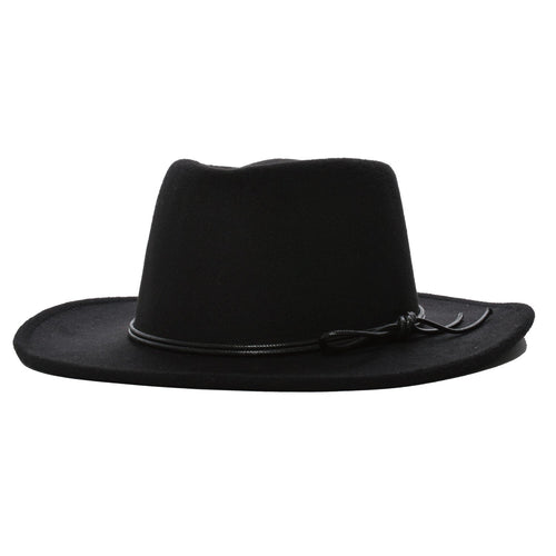 Mechaly Women's Jay Black Homburg Vegan Hat - ShopAndGo.Online