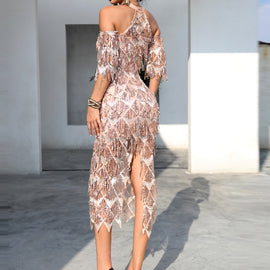 Lana Beige Knee Length Dress