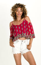 Load image into Gallery viewer, Alice Cold Shoulder Blouse - ShopAndGo.Online