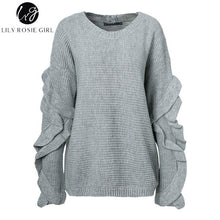 Load image into Gallery viewer, Lily Rosie Girl Casual Off Shoulder Knitted Sweater - ShopAndGo.Online