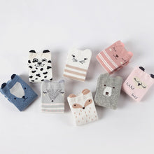 Load image into Gallery viewer, Cotton socks 4 pairs/lot toddler for Baby girls - ShopAndGo.Online
