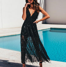 Load image into Gallery viewer, Sequin Lace Mesh Long Dress - ShopAndGo.Online