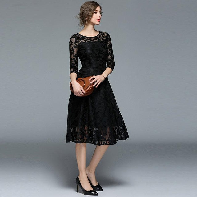Casual Lace Dress - ShopAndGo.Online