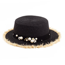 Load image into Gallery viewer, Women's Daisy Flower Rhinestone Inlaid Flat Top Hat - ShopAndGo.Online