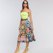 Load image into Gallery viewer, Character Print Pleated Skirt - ShopAndGo.Online