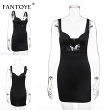 Load image into Gallery viewer, Mesh See-through Patchwork Lace Bodycon Dress - ShopAndGo.Online