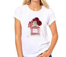 Load image into Gallery viewer, Paris Perfume Bottle Sunflower T Shirt - ShopAndGo.Online