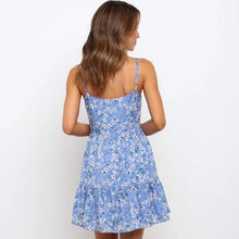 Load image into Gallery viewer, Floral Printed Backless Strap Dress - ShopAndGo.Online