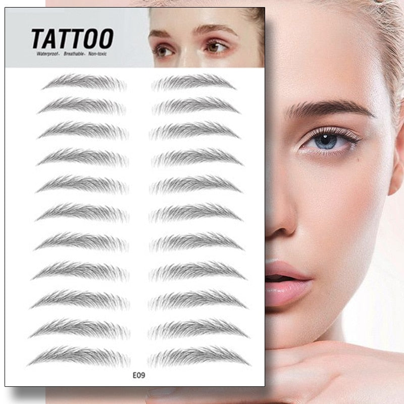 Magic 4D Hair-like Eyebrow Tattoo Sticker - ShopAndGo.Online