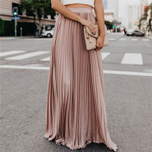Load image into Gallery viewer, High Waist Pleated Long Skirt - ShopAndGo.Online