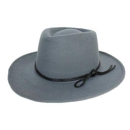 Mechaly Women's Jay Grey Homburg Vegan Hat - ShopAndGo.Online