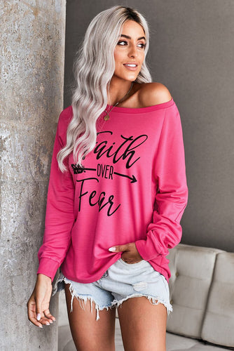 Faith OVER Fear Rose Long Sleeve T-Shirt