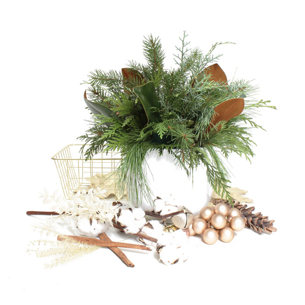 TABLE SCAPE TRIO OF DELUXE HOLIDAY CENTREPIECES