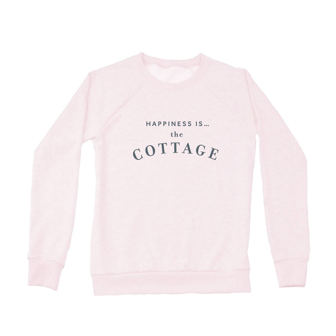 Women's Cottage Crew Sweatshirt, Ballet Pink