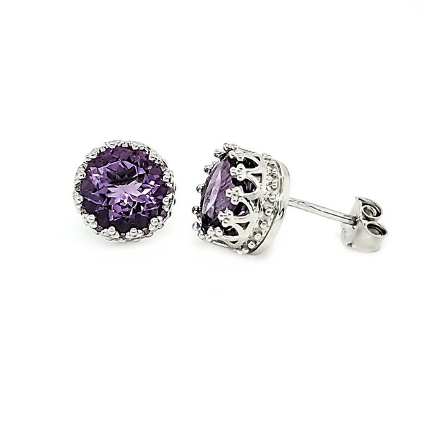Pop Studs in Amethyst