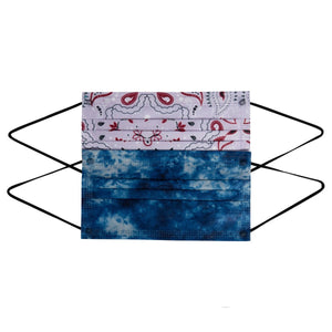 TIE DYE & BANDANA 10 MASK MULTI PACK