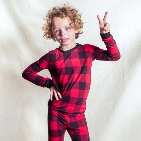 Buffalo Plaid Bamboo PJs (Size 2-6)