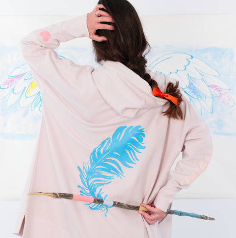Lovbird Blue Feather Jacket