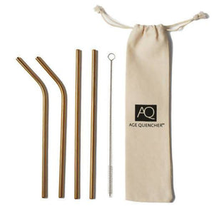 Gold-Stainless Eco Straw (4 pack)