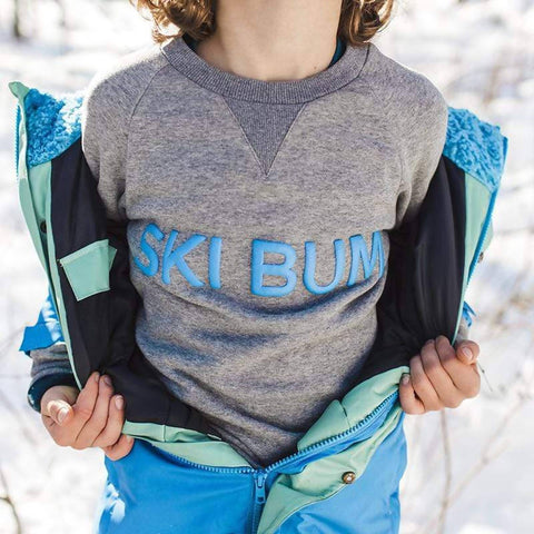 Ski Bum Unisex Crew Neck Sweater