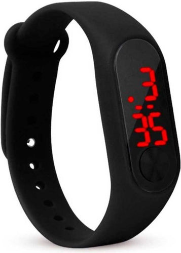 LED Digital M2 Black Multicolor Unisex Wrist Digital Watch M2 Black Digital Watch - For Boys & Girls