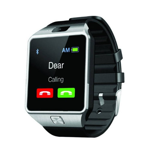 Dz09 Silver Colour Smart Watch Bluetooth With Sim/Sd Card Support Compatible With Android Mobiles
