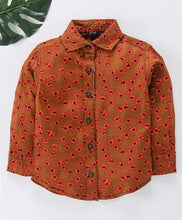 Load image into Gallery viewer, Brown Lilly Dilly Floral Printed Boyss Shirt