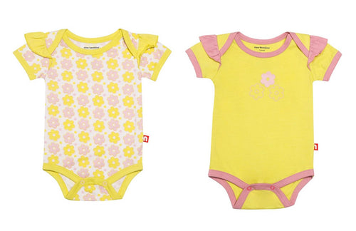Beautiful Multicoloured Self Pattern Organic Cotton Romper/Sleepsuit/Bodysuits For kids Pack of 2