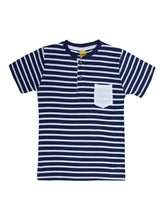 Load image into Gallery viewer, Kids Striped Multicoloured Cotton Tees (Pack Of 3)