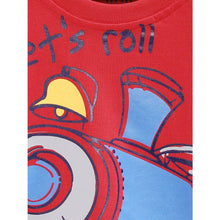 Load image into Gallery viewer, Stylish Cotton Printed Red Full Sleeves Round Neck T-shirt For Boys