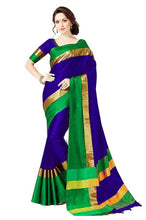 Load image into Gallery viewer, Multicoloured Cotton Silk  Saree With Blouse
