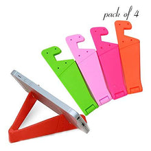 Load image into Gallery viewer, 0288 Universal Phone Stand Foldable V Shape Mobile Mount Stand Holder Bracket (Random Color) (Pack of 4)