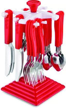Load image into Gallery viewer, 0175 24 Piece Stainless Steel Premium Cutlery Set With Stand