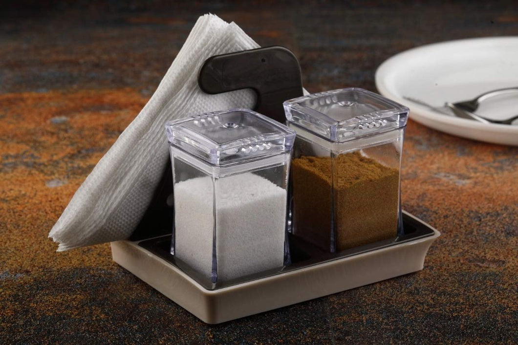 0120 Salt and Pepper Set with Tissue Holder Kitchen Dining Table